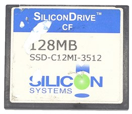 COMPACT FLASH SILICON DRIVE CF 128MB-İKİNCİ EL