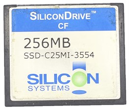 COMPACT FLASH SILICON DRIVE CF 256MB-İKİNCİ EL